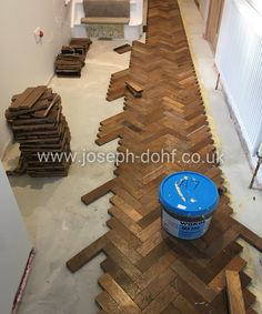 Specialist installing new and reclaimed parquet floors. Reclaimed Parquet Flooring, Wooden Flooring, Kitchen Flooring, Hardwood Floors, Hallway Inspiration, Floor Design, Wood Pallets, Herringbone Floors, Forest Drawing