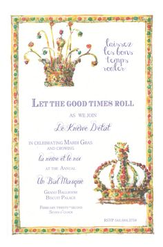 Crowning Glories Invitation from Odd Balls