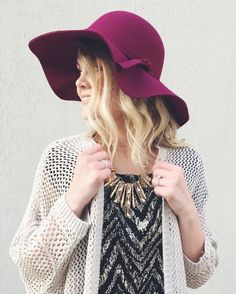 Floppy Hat - $19.89 including U.S. shipping. Available in four colors: Burgundy, Black, Dark Charcoal and Khaki.