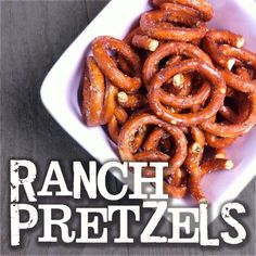 These ranch pretzels are so addictive. They are the perfect on the go snack for those busy days :) Mix it up by adding Buffalo wing seasoning or even White cheddar!