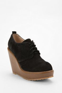 Cooperative Suede Oxford Wedge