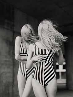 striped suit twins