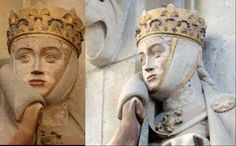 Naumburg Cathedral Germany – 1250  Barbette and tall filet with crown.