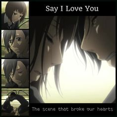 """Say I love you anime @OneWingedMelody  I hate u I'm getting addicted to this anime again I hate UUUU Say I Hate U hehe u.u ^.^ @.@ . """"_"""" T.T o.o O.O 0.0 -""""- """"_"""" •.• __ ~"""