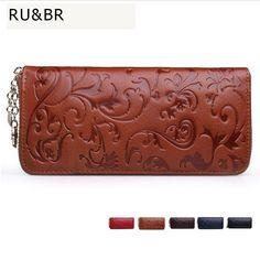 Hot Sale Vintage Women Genuine Leather Wallets Long Clutch Embossing Wallet Ladies' Retro Purse Money Clips Card & ID Holder #shoes, #jewelry, #women, #men, #hats