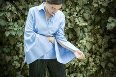 YSMF: Blue shirt, wide cuffs | YouStrikeMyFancy