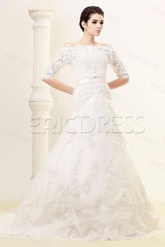 Fabulous A-line Sleeveless Bateau Chapel Train Julianas Wedding Dress