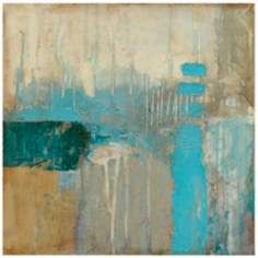 """Shore II 35"""" Square Giclee Abstract Canvas Wall Art"""