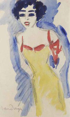 Kees van Dongen - Portrait of a Lady
