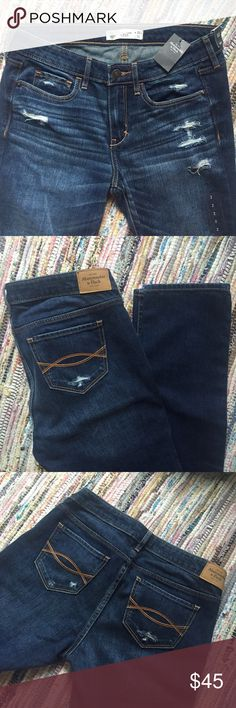 """Brand New Abercrombie & Fitch Skinny Jeans Brand new with tags skinny jeans from Abercrombie & Fitch! Size 2 regular, 26"""" waist, 33"""" inseam. Style is """"The A&F Skinny."""" Perfectly soft jeans with a bit of distressing holes. Price is rather firm because I paid full price! Get them fast, while they still smell like the store!! Abercrombie & Fitch Jeans Skinny"""