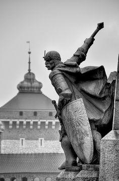 Battle of Grunwald monument in Kraków, Poland
