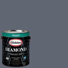 Glidden Diamond 1 gal. #HDGCN47 Blue-Grey Slate Semi-Gloss Interior Paint with Primer