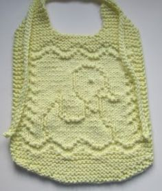 Cute, Handsome or Pretty – Bibs to Knit for Baby – free patterns – Grandmother's Pattern Book Arm Knitting, Knitting For Kids, Knitting Projects, Crochet Projects, Knitted Washcloths, Knit Dishcloth, Baby Bibs Patterns, Baby Knitting Patterns, Animal Patterns