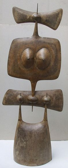 'La vicomtesse' (1960) by French artist, sculptor & designer Philippe Hiquily (1925-2013). Coated iron, 138 cm ht. via Catherine Charbonneaux