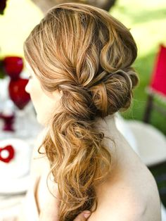 Here's a great updo for prom, weddings (if you're a guest or bridesmaid), and summer parties.