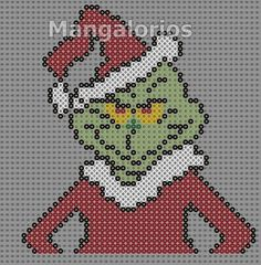 The Grinch - Christmas perler pattern by Mangalorios