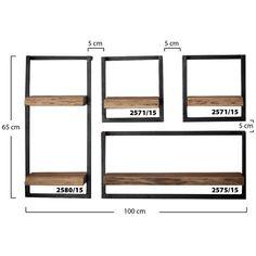 Woody Metaal wandplank set van vier Iron Furniture, Steel Furniture, Home Decor Furniture, Industrial Furniture, Home Decor Bedroom, Furniture Design, Room Decor, Wood Wall Shelf, Metal Wall Decor