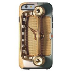 Pattern Vintage Radio Look a Likes Tough iPhone 6 Case