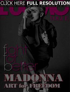 Madonna, L'Uomo Vogue Magazine May 2014 Cover Photo - Italy