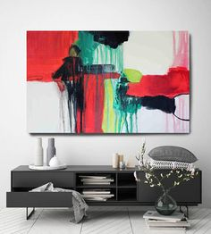 Melody Corner. Abstract Paintings Art Extra Large Abstract