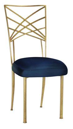 Gold+Fanfare+with+Midnight+Blue+Taffeta+Cushion+#events+#eventdesign+#eventdecor+#weddingideas+#eventprofs+#wedding+#weddingdecor+#chairdesign+#chairs+#weddingchairs
