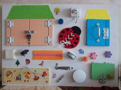 Vzdělávací hračky ruční práce.  Fair Masters - ruční.  Koupit Bizibord - rozvoj deska.  Ruční výroba.  Bílá, cítil
