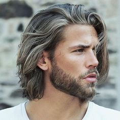 Surfer Hair For Men: 20 Cool Beach Men's Hairstyles Guide) Growing Your Hair Out, Grow Long Hair, Long Hair Cuts, Long Hair For Men, Long Hair With Beard, Bald Man With Beard, Short Beard, Chignons Glamour, Guy Haircuts Long