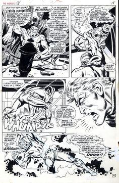 Avengers 58 page 18 by John Buscema Comic Art