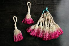 How To Make Dip Dye Tassel Napkin Rings — Hank and Hunt Party Crafts