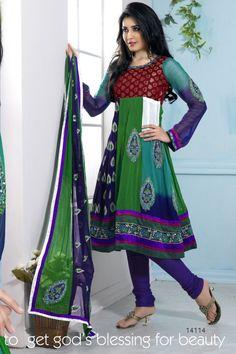 atisundar Adya: Comely Unstitched Embroidery Salwar Kameez    More details here:  http://www.atisundar.com/collections/salwar-suits/products/atisundar-adya-comely-unstitched-embroidery-salwar-kameez