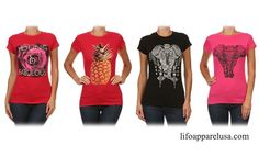 Cute graphic T-shirts at www.lifoapparelusa.com