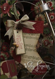 The Stamping Idea Corner: November Club Projects. Stampin' Up! Holiday Stocking Bigz L Die.
