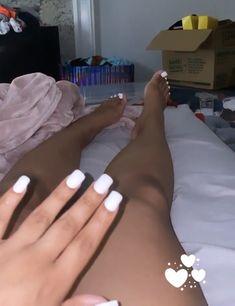 Black Toe Nails, Pretty Toe Nails, Pretty Toes, White Nails, Acrylic Toes, Cute Acrylic Nails, Drip Nails, My Nails, Claw Nails