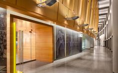 Image 1 of 22 from gallery of Matthew Knight Arena / TVA Architects. Photograph by Lawrence Anderson Lobby Interior, Interior Design, Trophy Display, Lobby Design, Hotel Lobby, Auditorium, Convention Centre, Knight, Architecture Design