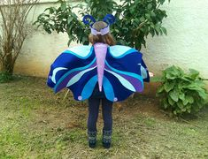 butterfly costume is so easy for both a child or an adult to wear!!! It feels realy soft and its so lightwear so you can easily move, play and dance!! butterfly costume comes with a fabullus hairband, Every little piece of this costume has been made with love and great inspiration.