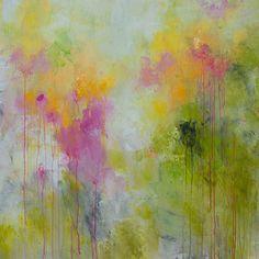 Abstrakte Malerei Große Gemälde Nr. Knife Spätestens Mai    Contemporary Palette Floral Garten