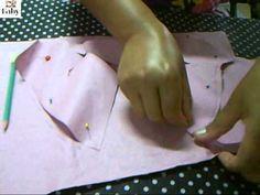 Molde da manga princesa fazer acabamento duplo