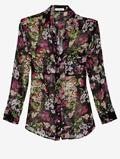 Equipment Signature Floral Print Blouse