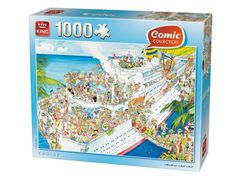 King Cruise Comic Jigsaw Puzzle (1000 Pieces) - Brand New FOR SALE • £8.80 • See Photos! Money Back Guarantee. sales@pdk.co.uk | 01392 332841 Shop home Delivery Returns King Cruise Jigsaw Puzzle (1000 Pieces) Cruise is a quality 1000 piece jigsaw puzzle from King. This comic jigsaw portrays a cruise 191008130287