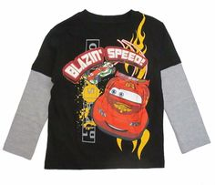 Disney Cars Blazing Speed Long Sleeve Layered t Shirt Toddler Boys 2T-5T nwt #Disney #EverydayBirthday