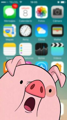 Waddles (formerly Fifteen-Poundy), Mabel's pig in Gravity Falls cartoon Phone lock screen Pig Wallpaper, Funny Iphone Wallpaper, Homescreen Wallpaper, Fall Wallpaper, Funny Wallpapers, Tumblr Wallpaper, Cellphone Wallpaper, Cartoon Wallpaper, Disney Wallpaper