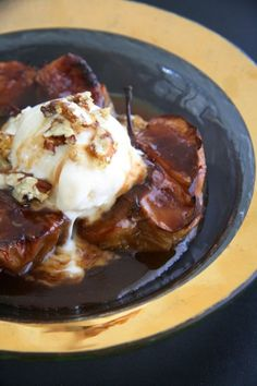 NOMU is an original South African food and lifestyle concept by Tracy Foulkes. Baked Cinnamon Apples, South African Recipes, Hot Chocolate Recipes, Baking Recipes, Cocoa, Vanilla, Pork, Ice Cream, Beef