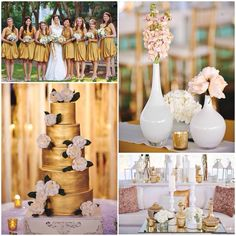 Beautiful gold inspired wedding by Florals by the Sea, a premier wedding and event design company along the Emerald Coast.