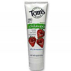 어린이 불소치약 딸기맛 / Tom's of Maine Children's Fluoride Toothpaste, Silly Strawberry 아이들이 좋아하는 딸기향의 불소치약 #불소치약 #구강건강 #Toms #Toothpaste #evitamins #evitaminskorea