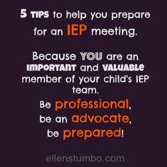 iep goals | tips to help you prepare for an IEP | Ellen StumboEllen Stumbo