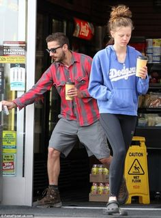 LaBeouf and girlfriend Mia Goth step out for a groggy early morning coffee run Shia Lebouf, Me And Bae, Hollywood Cinema, Fit Motivation, Fashion Images, Celebrity Couples, Summer Outfits, Street Style, Mens Fashion