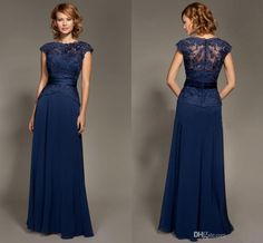 2015 Spring Dark Blue Plus Size Mother of the Bride Dresses Cap Sleeves Lace Chiffon Mother Dresses Long Party Evening Dresses Women Dresses Online with $73.88/Piece on Gracedressonline's Store | DHgate.com