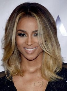 Beyonce hairstyle 100% unprocess Brazilian virgin human hair lace front wigs.