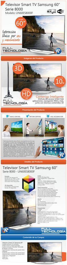 """Televisor Samsung SMART TV 60"""". Cliente Full Tecnología. Elaborado por iGrafi"""