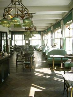 Grand Cafe Orient, #Prague Restored to the original 1930s cubist design